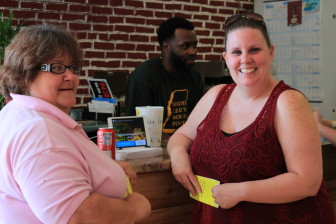 Krysten Demello, left, and Stephanie Reynolds-King suggest you try Addie Lee's yams.