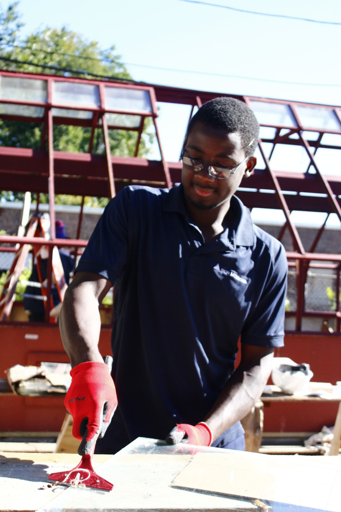 """Cyrille Tiako, 21, says, """"this project has taught me more than I ever thought."""""""