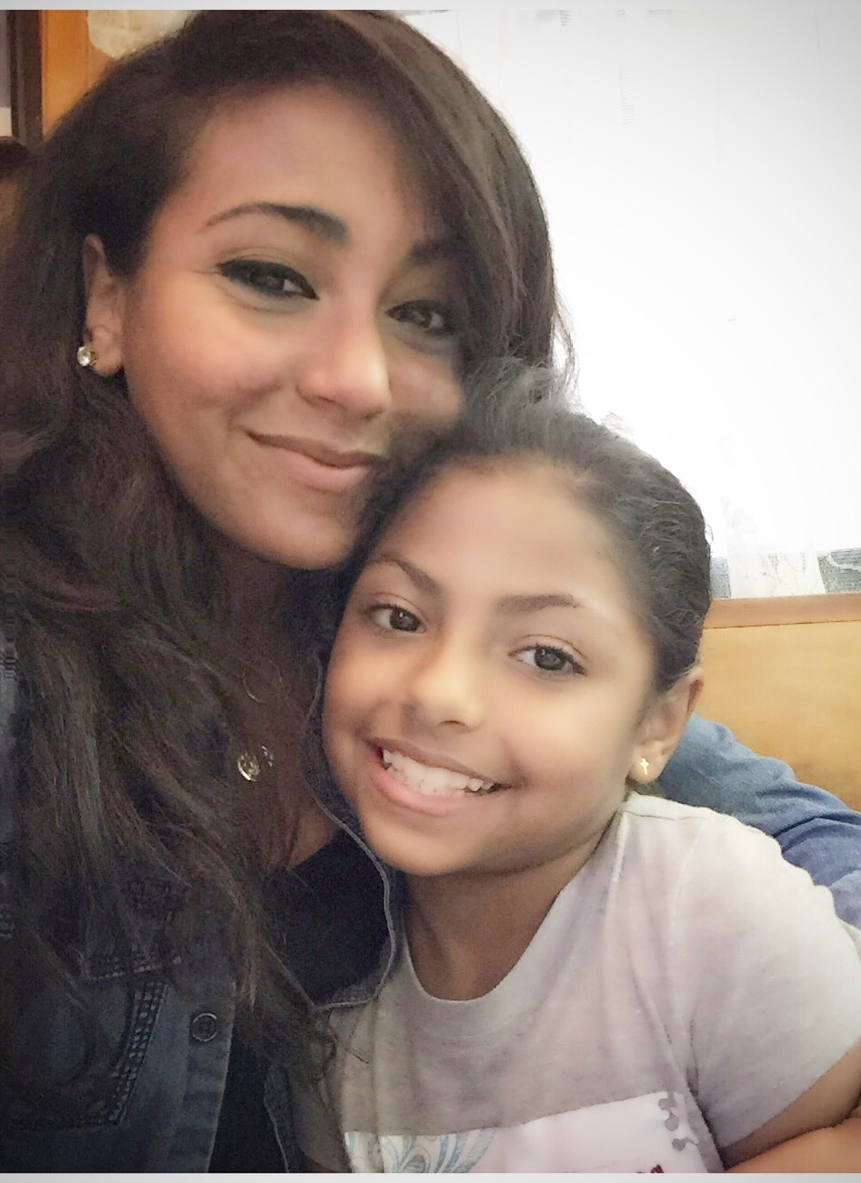 Giselle Rivera-Flores and her daughter, Brooklyn