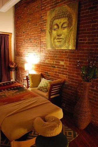 A massage room at the Union Street wellness center.