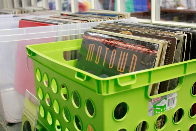Allergic to Cubicles may hang its hat on vintage sports apparel, but you can find an eclectic mix of other offerings, including vinyl records.