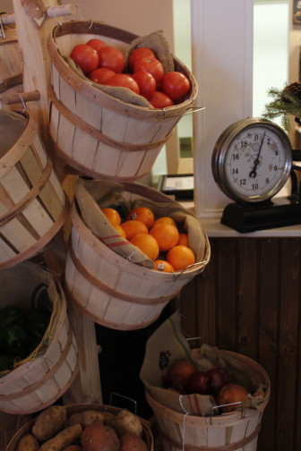 Fresh produce is among the eclectic offerings, and part of the rustic charm, at Viriditas.