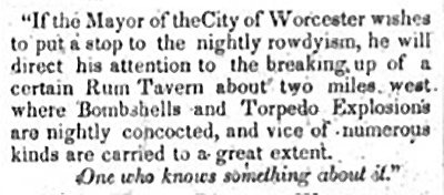 The text of an anonymous letter sent to Mayor Chapin via the firm Reed & Clark. (Source: The National Aegis, May 22, 1850.)