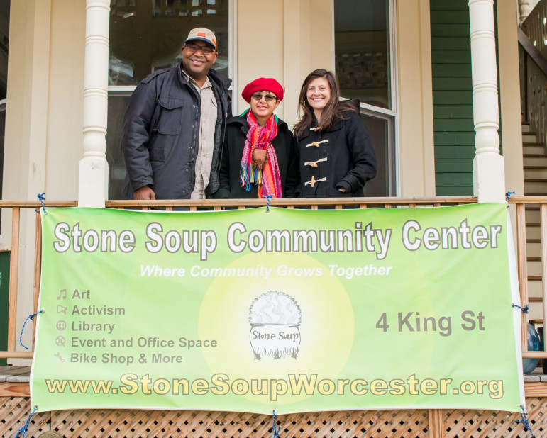 Dee Wells, Dania Flores and Cailin Duram are among the driving forces behind Stone Soup's initiative to add photography offerings to the community center.