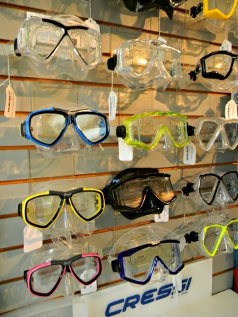 Scuba masks are not part of the course package cost but can be purchased in-store.
