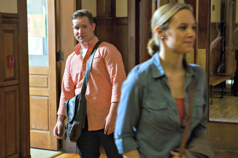 """Kevin Cox plays Charles to star Danielle Savre's Trudy in Lifetime's """"The Wrong Car."""""""