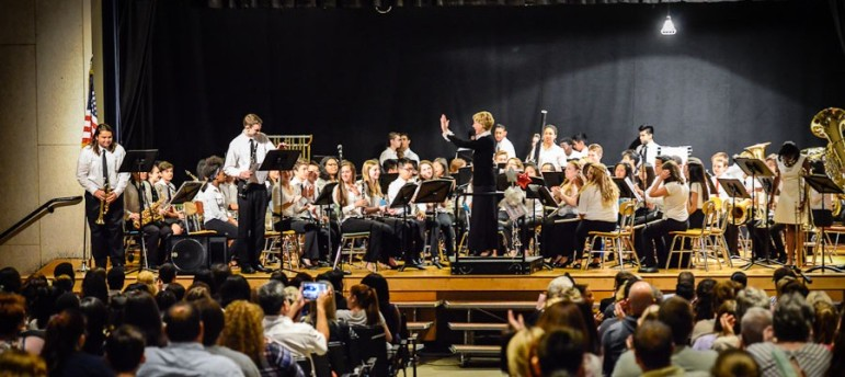 The South High band performs