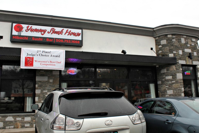 Yummy Steak House, 1121 Grafton St., is in a small plaza just before the intersection with Sunderland Road.