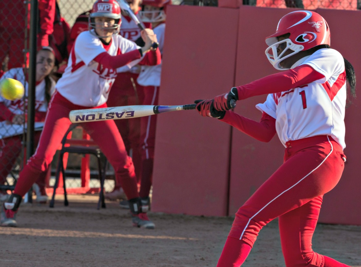Ama Biney hit .445 as a freshman center fielder for WPI's record-setting softball team.