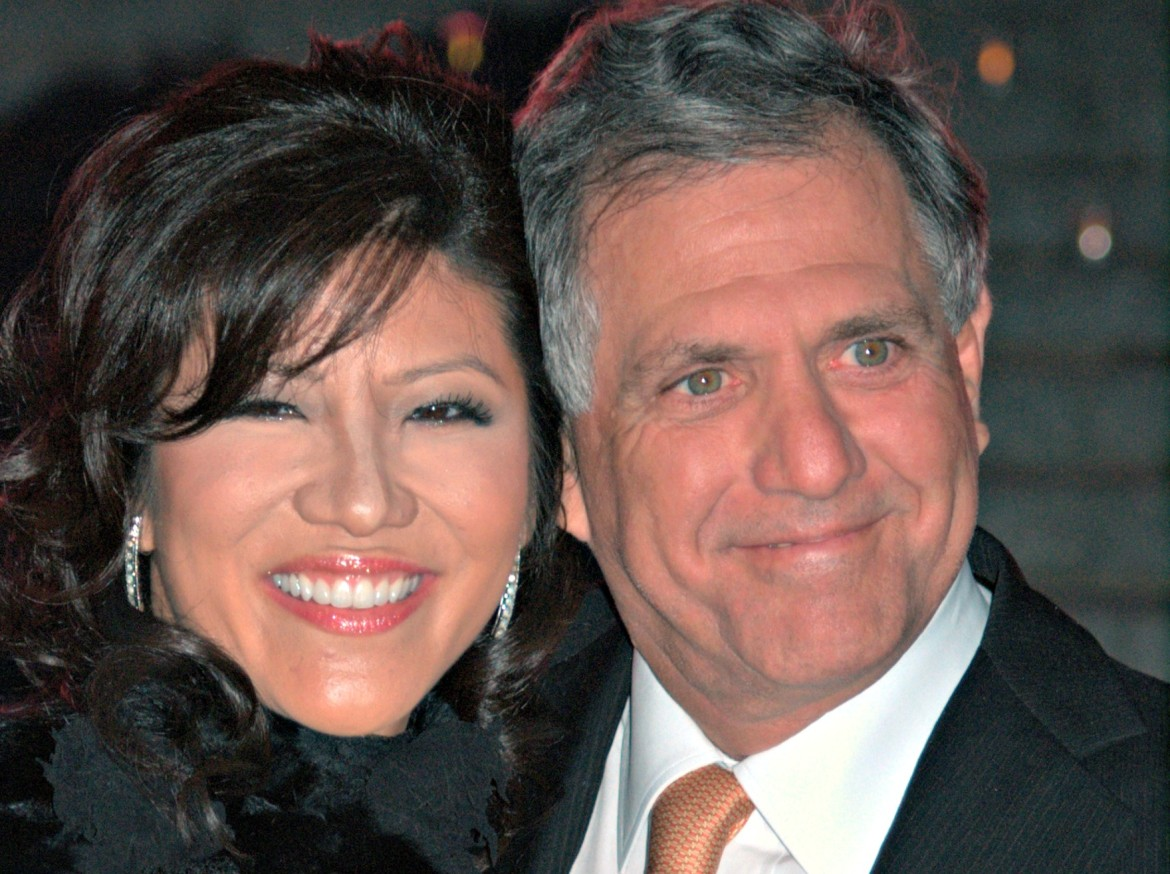 Les Moonves, head of CBS, with his wife, Julie Chen, a CBS television personality