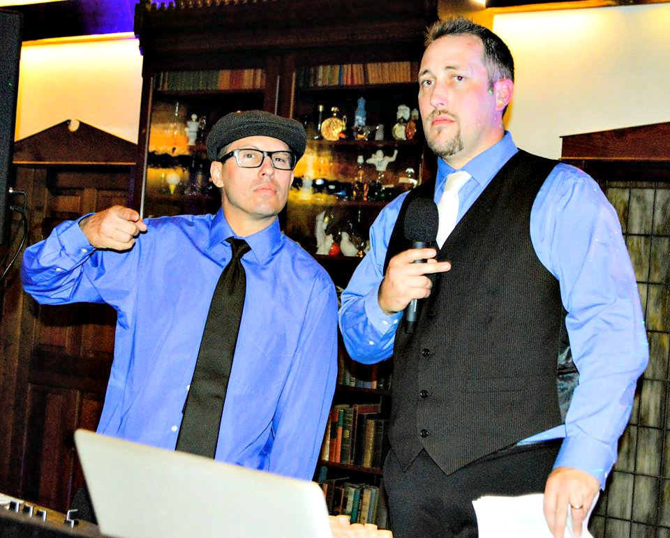Josh Venditti, left, and Mark Senior Jr., principals behind JAM Event DJs