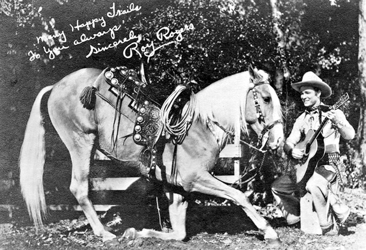 Roy Rogers and his horse, Trigger ... have no warnings for you.