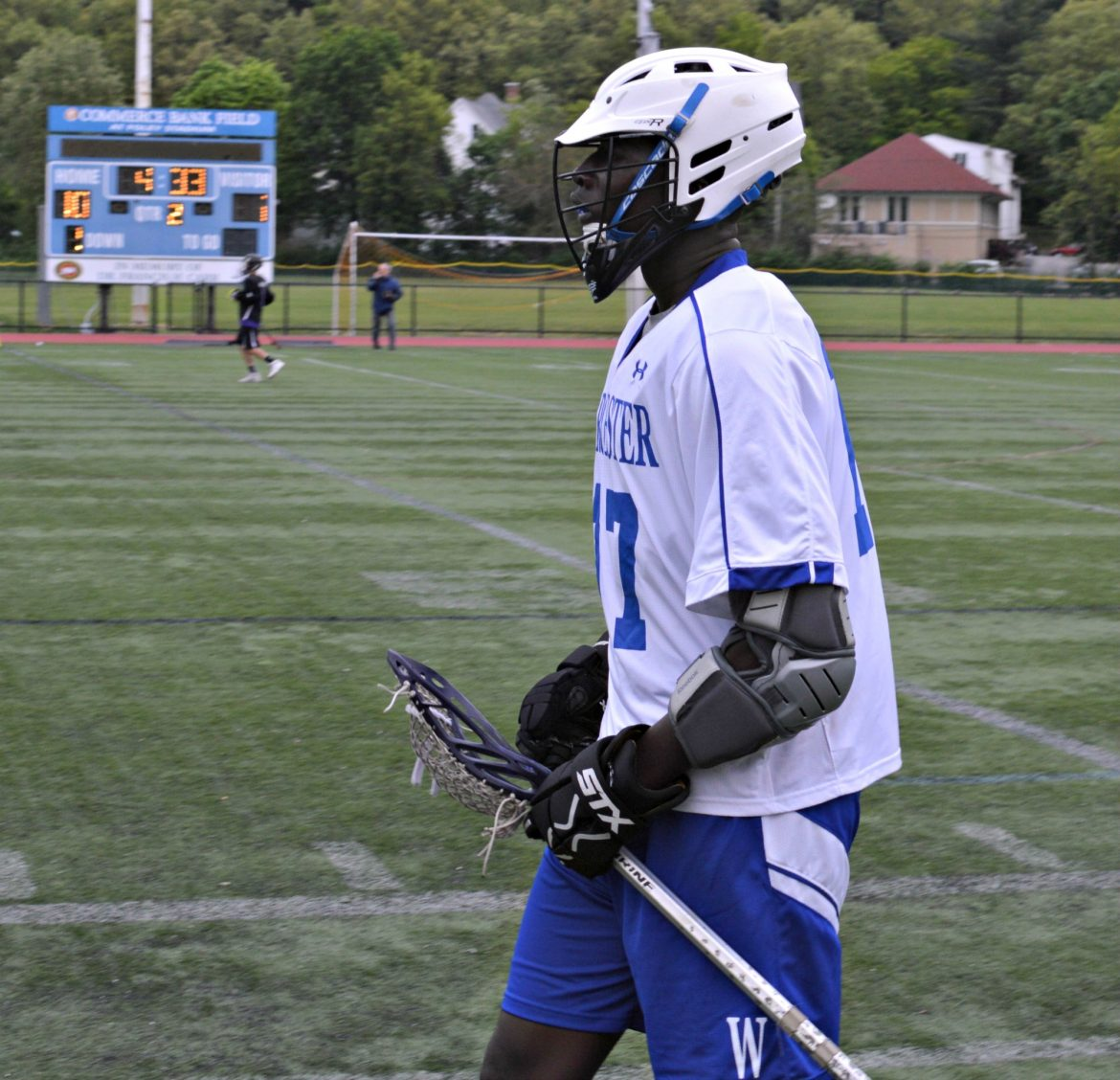 Phil Adarkwah, a 6-foot-2 sophomore, is growing into his role on the team.