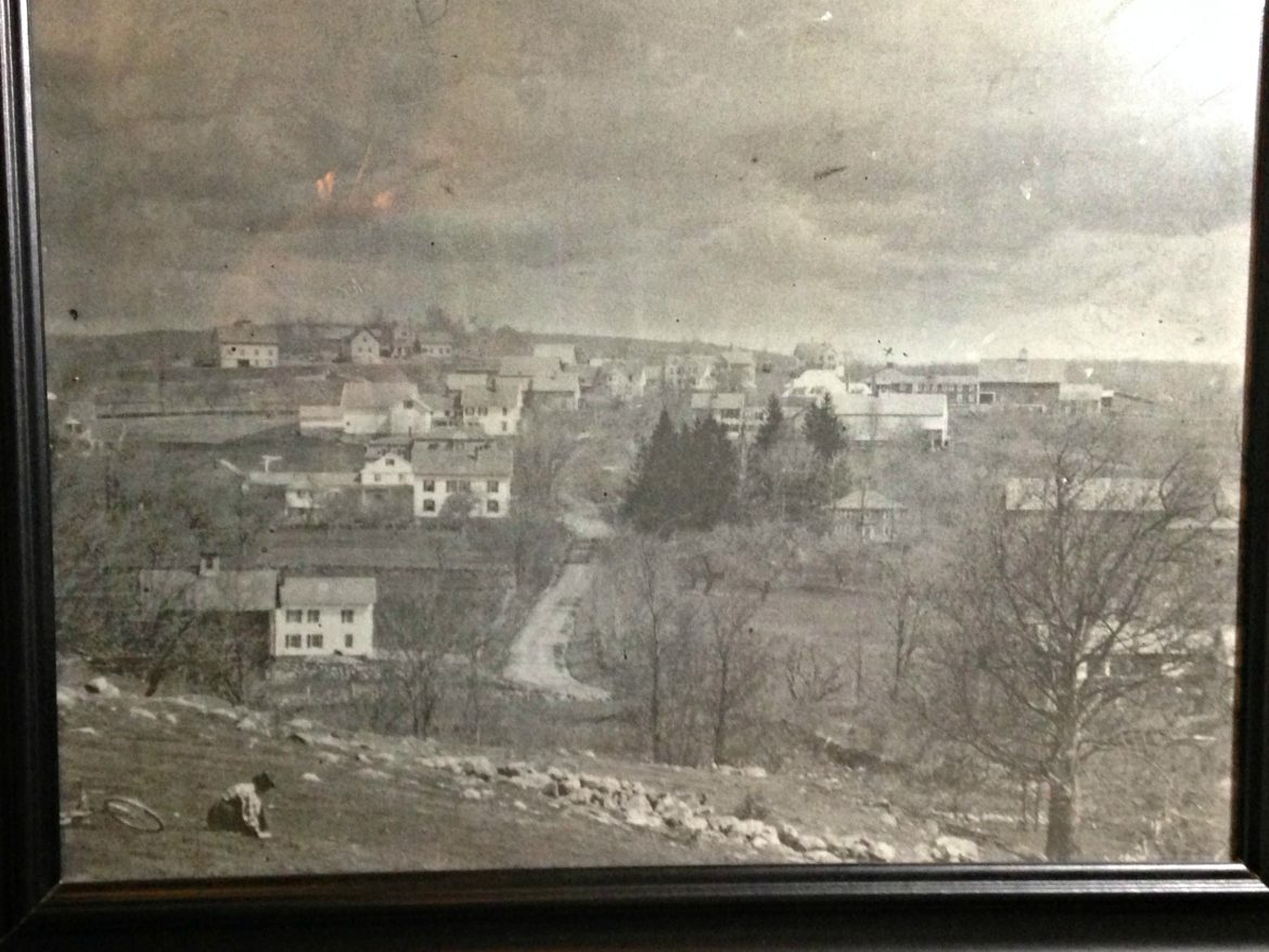 A picture from the 1800s shows Brattle Street along with Kadish's historic home.