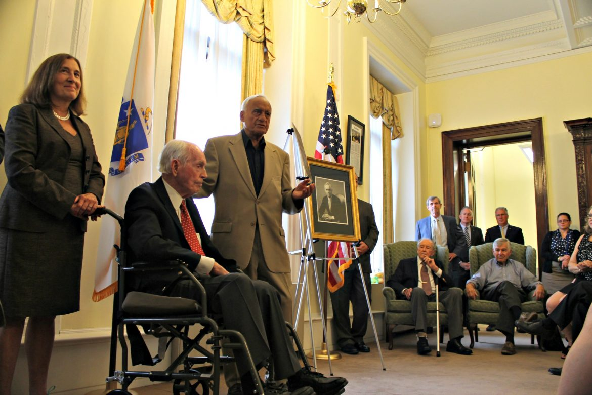 Former Treasurer Robert Crane was honored at the State House.