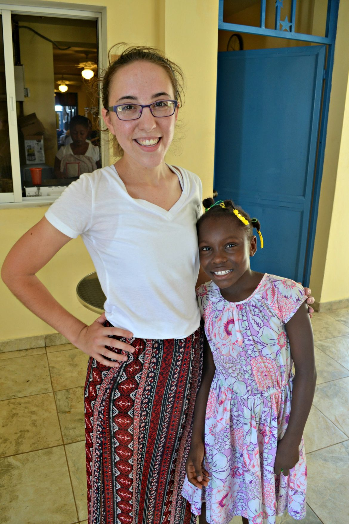 Myself and Isselande, one of the BLB kids, in our church attire.