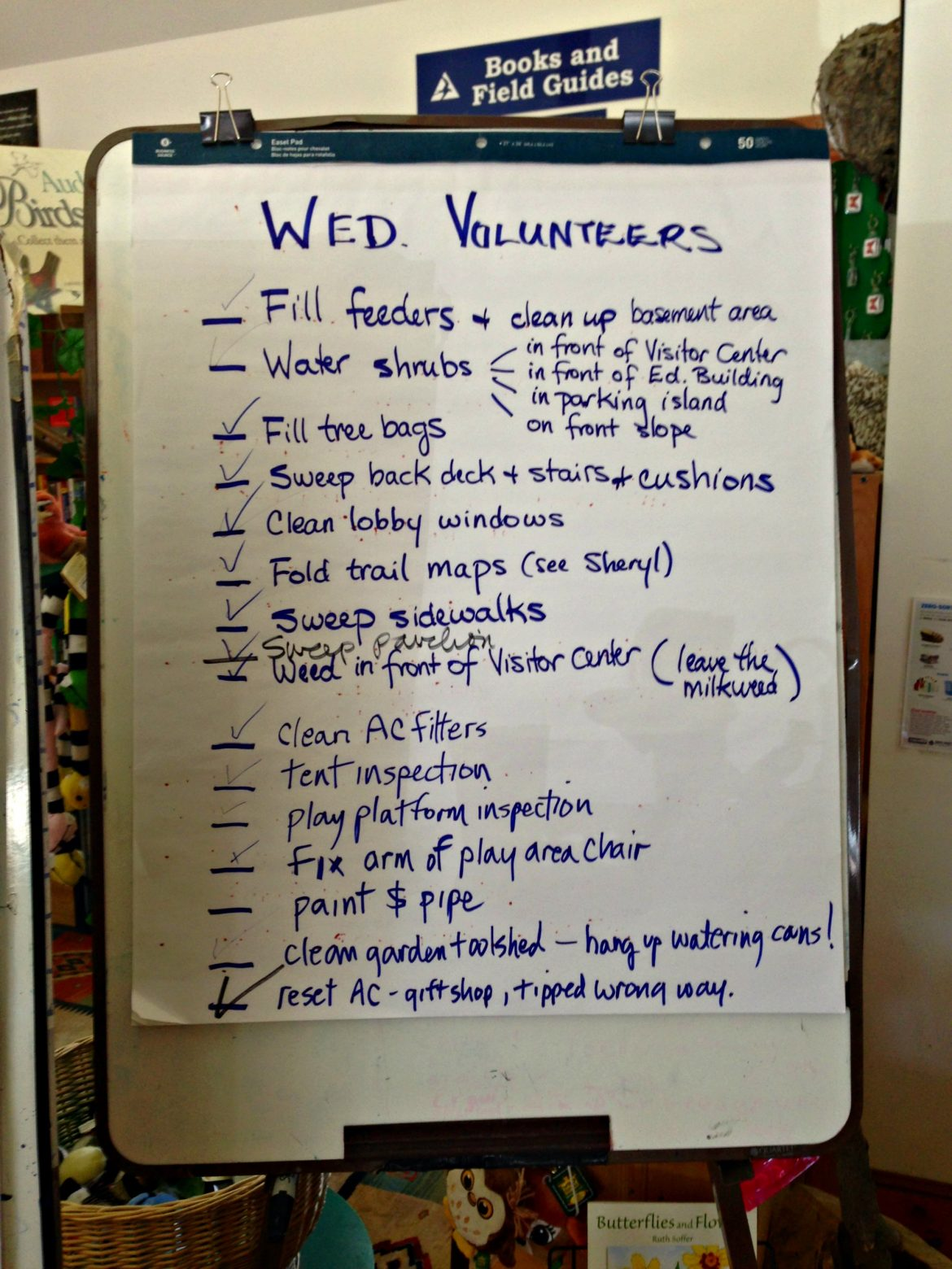 The volunteer board