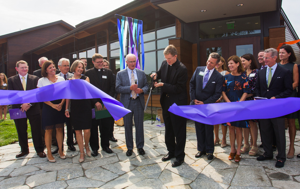 Joyce Center ribbon cutting