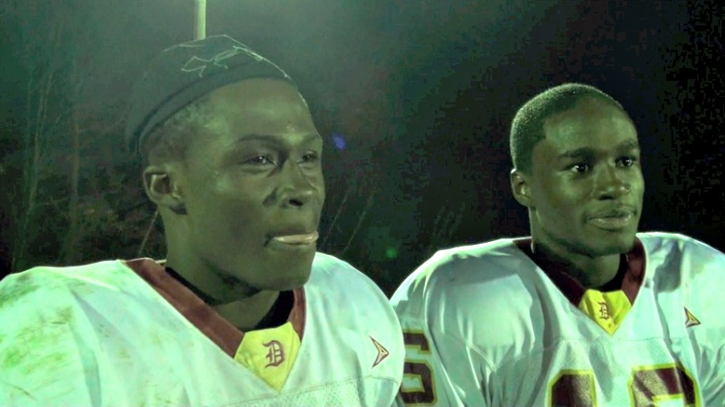 Isaac Yiadom, left, and Alfred Adarkwah take in their Central Mass. divisional win over Shepherd Hill in 2013.