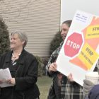 Lori Cairns, left, is among the driving forces for the Worcester Anti-Foreclosure Team.