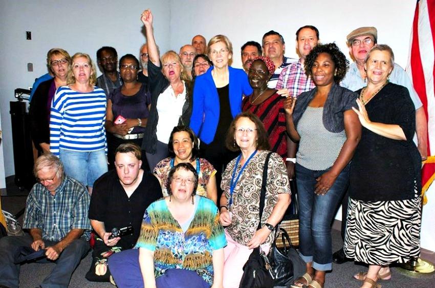 WAFT w/ Sen. Elizabeth Warren earlier this year.
