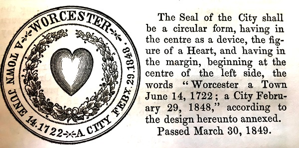 One of the first ordinances passed by the new city government was to establish the city seal.