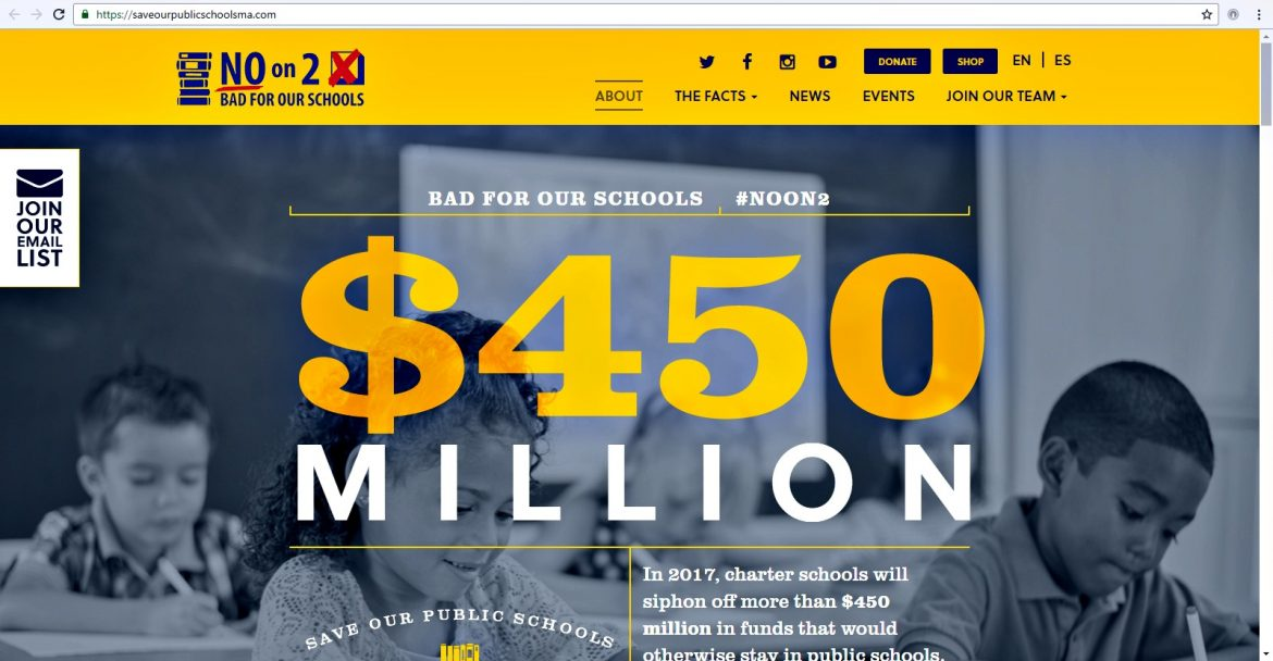 Save Our Public Schools website (screenshot)