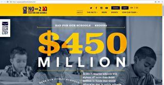 Save Our Public Schools website (screenshot)