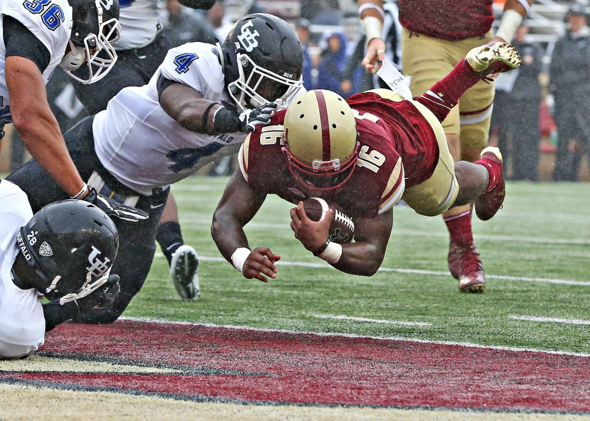 Davon Jones has dived right into his new role as on of BC's top running backs.