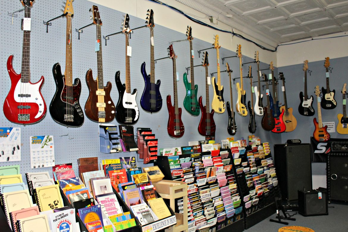 Kamp says sales of electric guitars are lagging behind their acoustic counterparts these days.