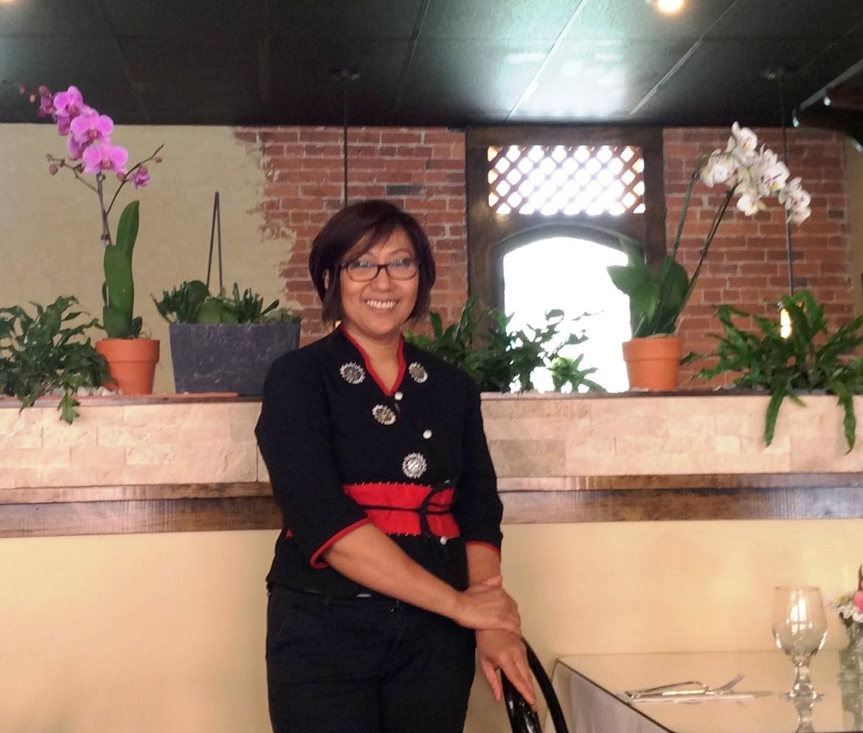 Bator Lachmann in her restaurant, Basil n' Spice