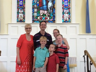 Pastor Judy, Jud and Trish Symmes and their family