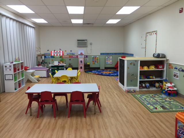One of the classrooms at the new Tiny Explorers Early Childhood School on West Boylston Street.