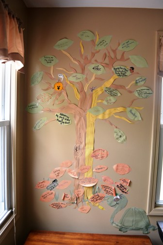 A tree affirming the clients' hopes and recognizing their struggles decorates the main common area.