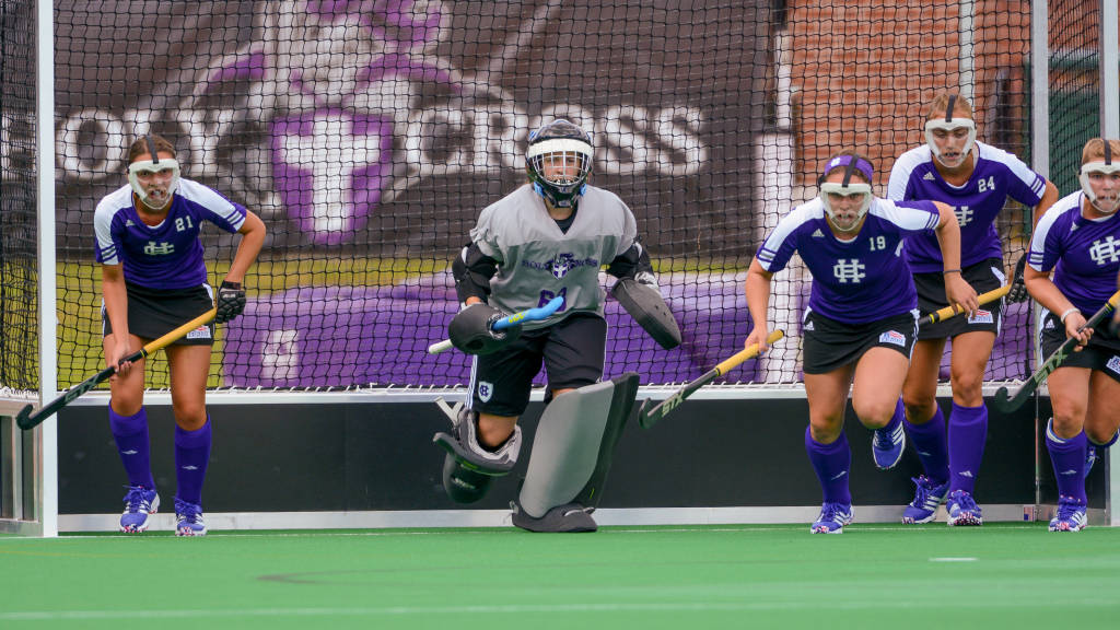 The resurgent Holy Cross field hockey squad hits the turf for a Saturday, Sept. 19, home tussle with Colgate.