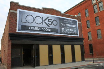 Chef Tim Russo and GM Tom Studer expect a January opening for their new restaurant at 50 Water St., Lock 50.