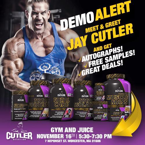 Four-time Mr. Olympia and Quinsig grad Jay Cutler will be at Greendale Mall Monday.