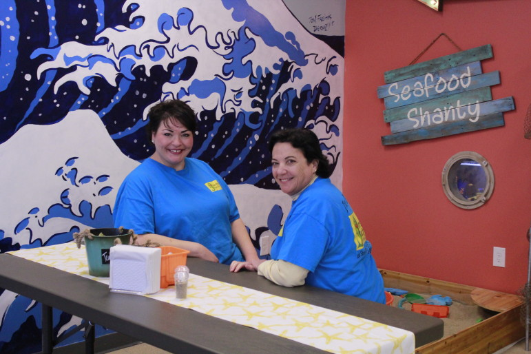 Rose-Ellen Padavano, left, and Angela Padavano recently opened Somethin' Catchy on Shrewsbury Street.