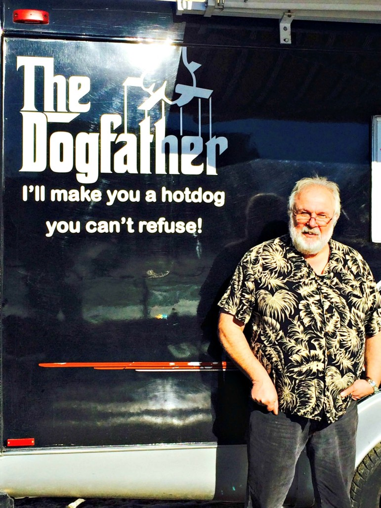 """Mark Gallant, owner of The Dogfather, envisions a """"food truck commissary"""" as a potential key cog in the city's burgeoning food-on-wheels industry."""