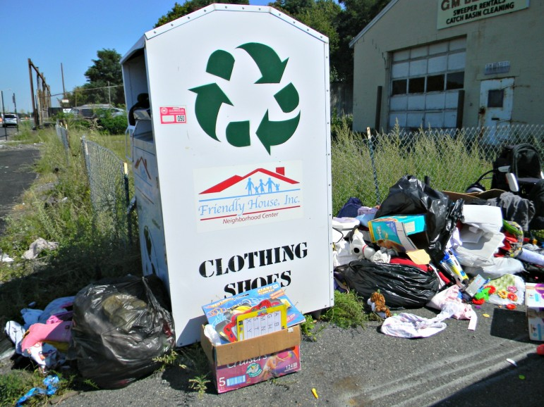 Rampant illegal dumping around donation bins in the city has officials seeking alternatives.
