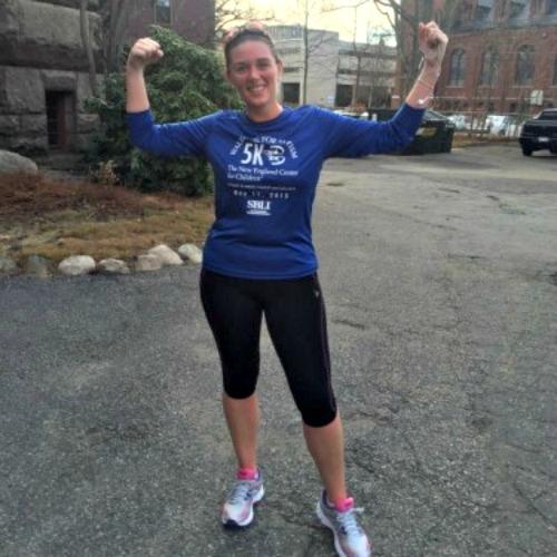Kait Maloney, a Grafton Hill girl and SPM grad, is raising money to run the Boston Marathon for New England Center for Children, where she works.