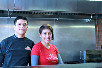 Alfredo Garcia, head chef, and Mirna Cazares, co-owner, of El Patron Mexican restaurant.