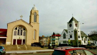 St. Spyridon Greek Orthodox Church, at Elm and Russell streets