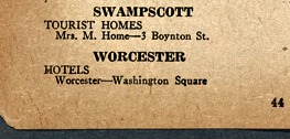 Hotel Worcester was among the Green Book-approved businesses in the city.