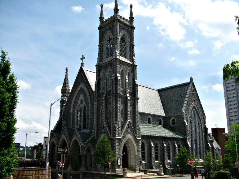Cathedral of St. Paul on High Street, the mother church of the Roman Catholic Diocese of Worcester