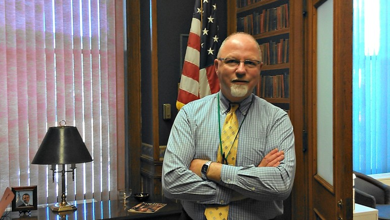 David J. Rushford, city clerk, takes the term public service quite seriously.