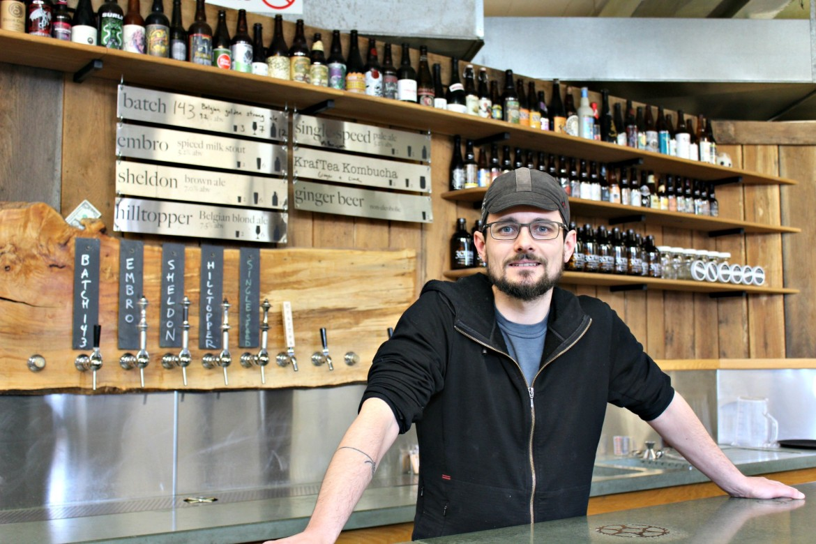 Dave Howland, a Worcester Academy grad, traded in his basement for a Cambridge Street location to build 3cross Brewing Co.