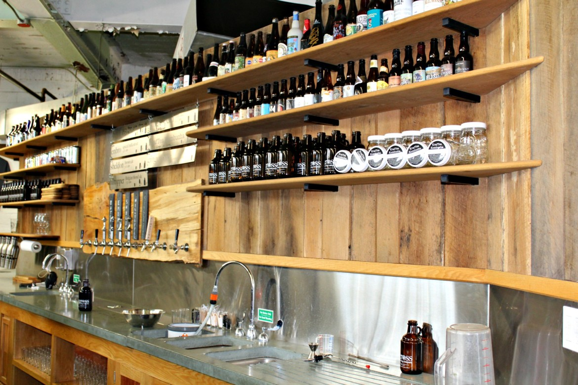3cross features a constantly evolving selection of craft brews, including ginger beer and tea.