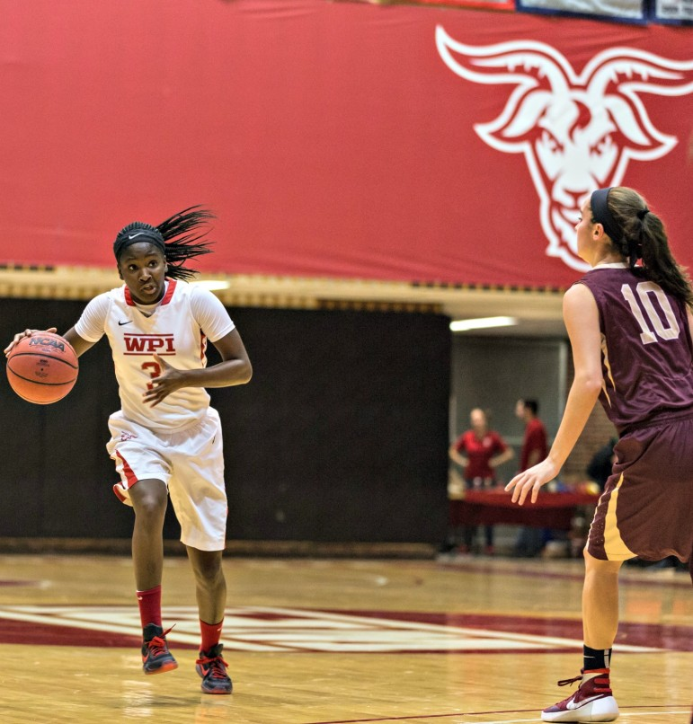 Biney's 5.9 rebounds per game led WPI, and she was a top ball-handler too.