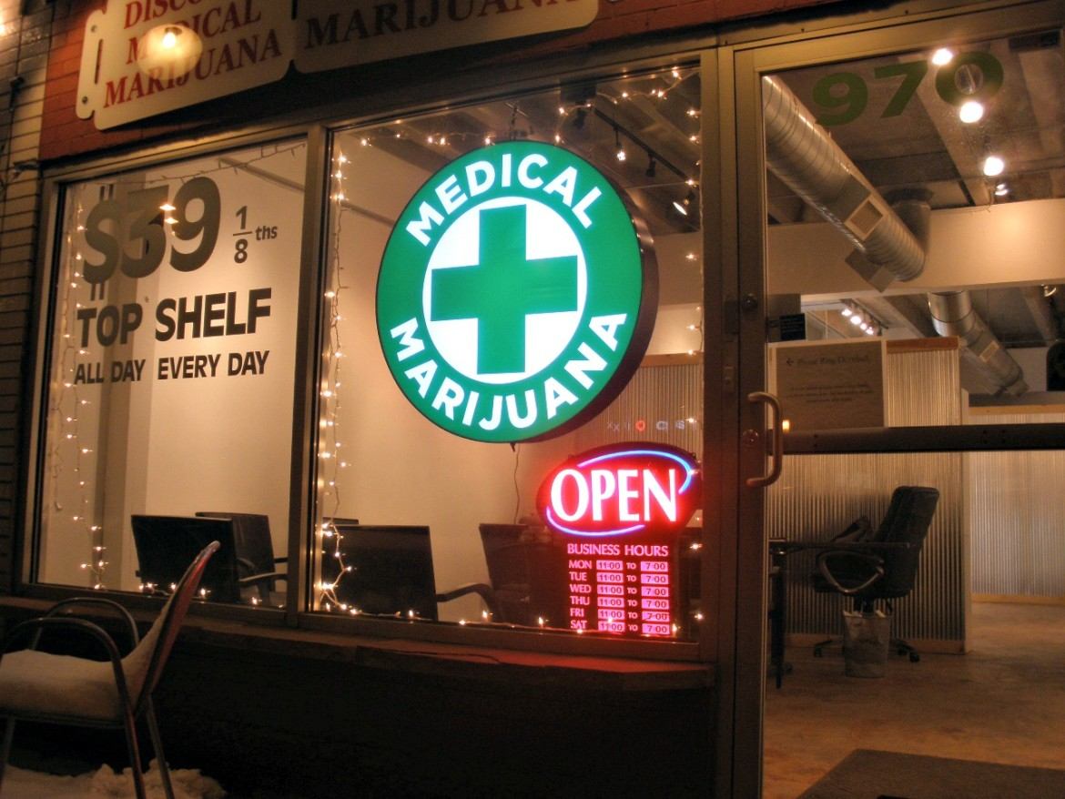 A medicinal marijuana storefront could be lighting up the Canal District.